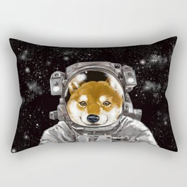 Astronaut Shiba Inu Rectangular Pillow