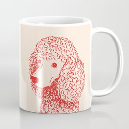 Poodle (Light Peach and Red) Coffee Mug
