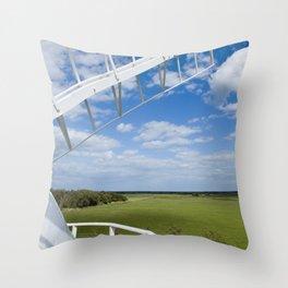 Horsey Windpump - Windmill Throw Pillow