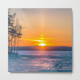 Nice winter sunset Metal Print
