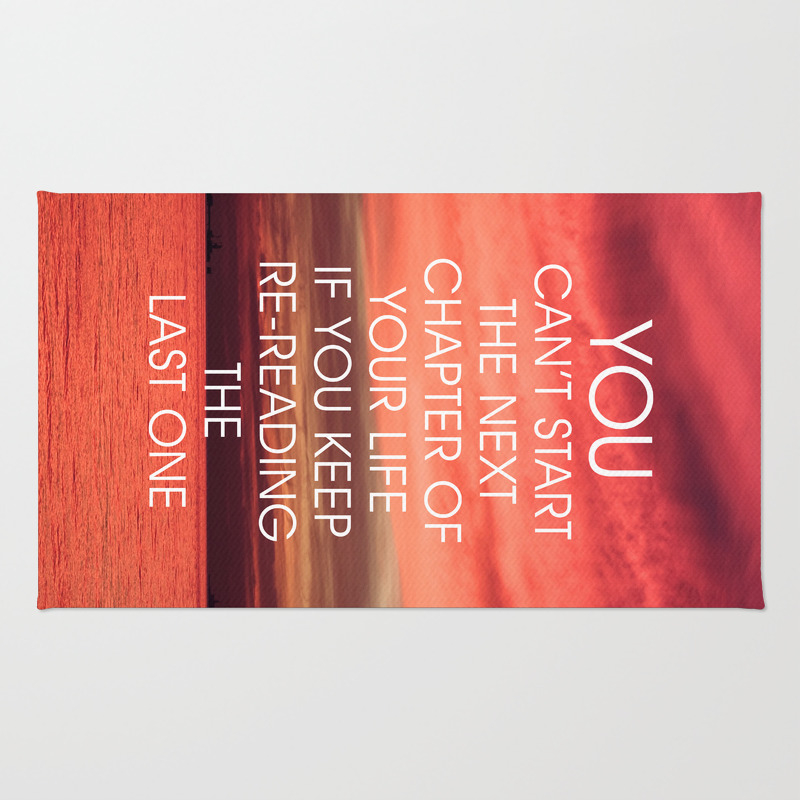 The Next Chapter Life Quote Rug by Thedailyquotes RUG7587705