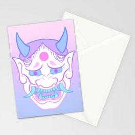 Hannya Mask (pastel) Stationery Cards