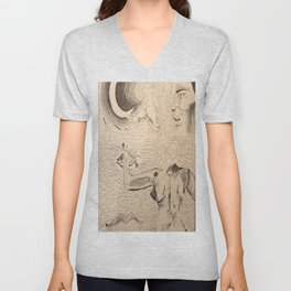Under the Moonlight Unisex V-Neck