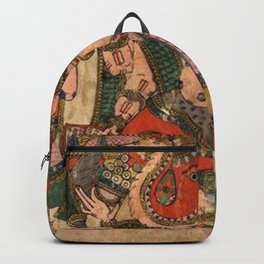 Hindu Krishna Ganesh Tapestry Backpack