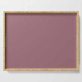 Mellow Grape Dark Purple Pink Solid Color Pairs To Sherwin Williams Concerto SW 6298 Serving Tray