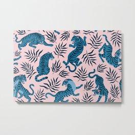 Blue asian tigers Metal Print