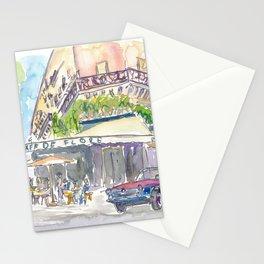 Paris Street Scene Romantic Cafe Stationery Cards