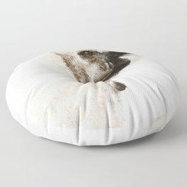 Crested Gibbon Floor Pillow