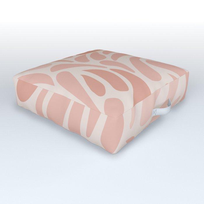 Pink Swirls Outdoor Floor Cushion