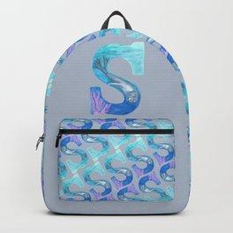 Illustrative Letter S for Sea Lion Backpack