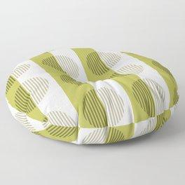 Minimalist Contemporary Lime Green Stripes & Circles - Horizons Series Floor Pillow
