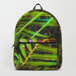 closeup green leaves plant texture abstract background Backpack