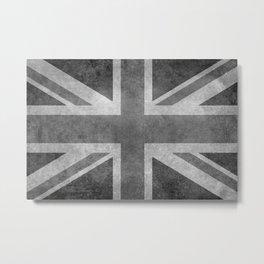 Union Jack Vintage 3:5 grayscale Metal Print