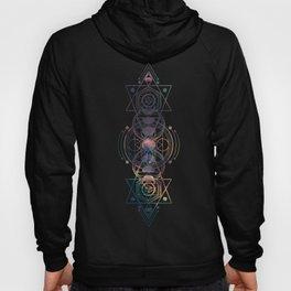 Dark Moon Phase Nebula Totem Hoodie