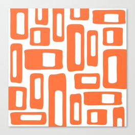 Retro Mid Century Modern Abstract Pattern 336 Orange Leinwanddruck