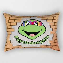 Psychelangelo - The Lost Ninja Turtle Rectangular Pillow