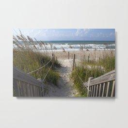 Peaceful Beach Scene Metal Print