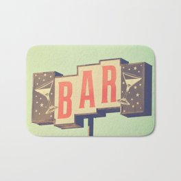 Bar sign photograph Bath Mat