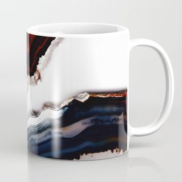 Red meets Blue - Agate Translucent #1 #decor #art #society6 Coffee Mug