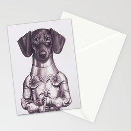 Dachshund Knight Stationery Cards