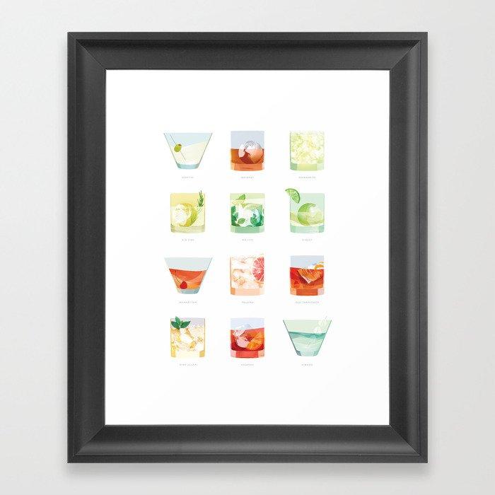 Cocktail Hour: Classic Cocktails Poster Gerahmter Kunstdruck