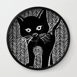 Itty Bitty Kitty Wall Clock
