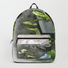 Yard Lamp And Vine Backpack