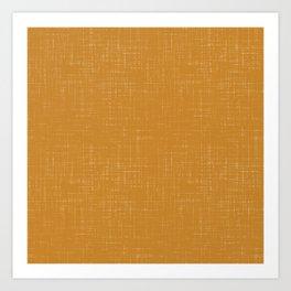 Simple solid mustard textured. Art Print
