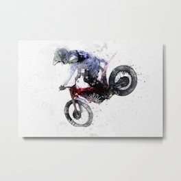 Nose Stand - Motocross Move Metal Print