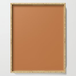 GOLDEN OCHRE warm solid color Serving Tray