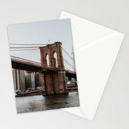Skyline with Brooklyn Bridge | Colourful Travel Photography | New York City, America (USA) Stationery Cards