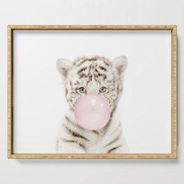 Bubble Gum White Tiger Cub Serving Tray