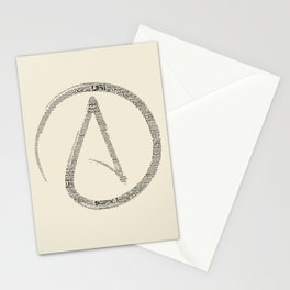 Atomic Whirl Words.  Stationery Cards