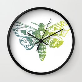 Death Heath Moth Wall Clock
