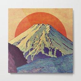The Red Sunrise at Dayai Shore Metal Print