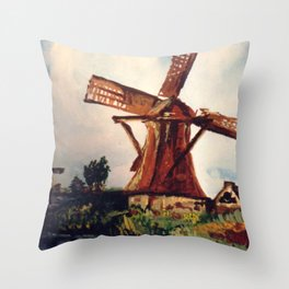 Windmill on the Norfolk Broads Throw Pillow
