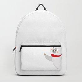 Polar Bear Christmas Bear Lazy Lazy Gift Idea Backpack