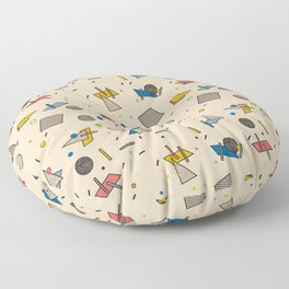 Memphis Inspired Pattern 9 Floor Pillow