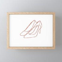 Shoes One Line Art Framed Mini Art Print