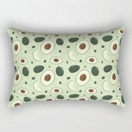 Cute Vintage Fruit Illustration Avocado Rectangular Pillow