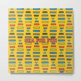 Sea for fun (yellow) Metal Print