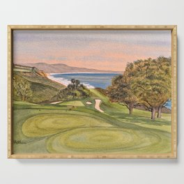 Torrey Pines South Golf Course Hole 6 Serving Tray