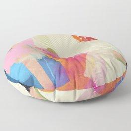the window to my garden - minimal color abstract modern art Floor Pillow