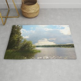 Lake view in Finland Rug