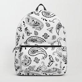 White Bandana Backpack