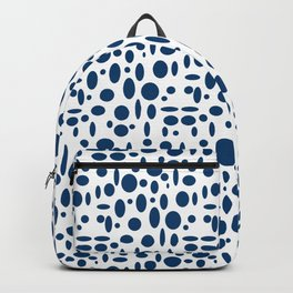 Indigo Blue Oval Pattern Backpack