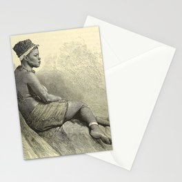 Black Woman In Repose Stationery Cards