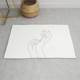 Hands line drawing illustration - Demi Rug