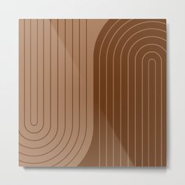 Two Tone Line Curvature XXXII Metal Print