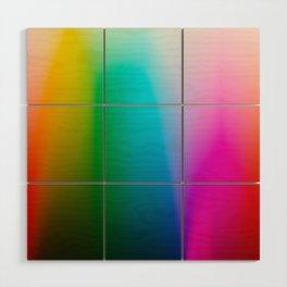 Kodak Film Rainbow Gradient Wood Wall Art
